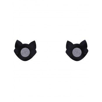Luminous Cat Nipple Sticker - BLACK BLACK