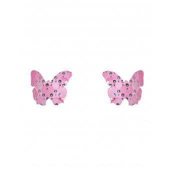 Butterfly Shape Nipple Stickers - PINK ONE SIZE