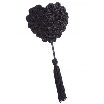 Applique Tassel Nipple Covers - BLACK ONE SIZE