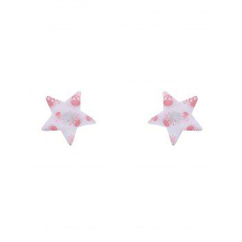 Skull Print Star Nipple Sticker - ONE SIZE ONE SIZE
