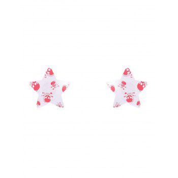 Skull Print Star Nipple Sticker - WHITE WHITE