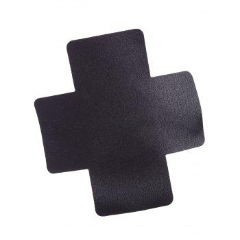 Crossed Adhesive Nipple Sticker - BLACK BLACK