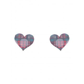 Plaid Heart Adhesive Peintre Autocollant - Carré ONE SIZE