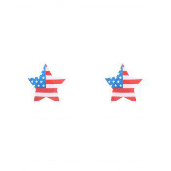 American Flag Print Star Nipple Sticker - COLORMIX COLORMIX