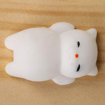 3Pcs Cat Shaped Squishy Squeeze Anti Stress Toys - Blanc