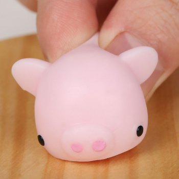 3Pcs Piggy Shaped Stress Squishy Relief Squeeze Toys -  LIGHT PINK