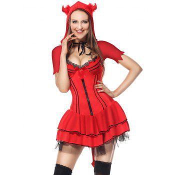 Devil Cosplay Costume - RED ONE SIZE