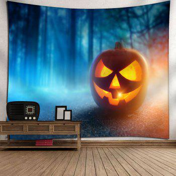 Halloween Pumpkin Foggy Forest Wall Decor Waterproof Tapestry - GINGER W59 INCH * L51 INCH