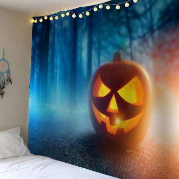 Halloween Pumpkin Foggy Forest Wall Decor Waterproof Tapestry - GINGER GINGER