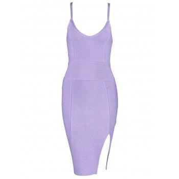 Cami Strap Slit Bandage Dress