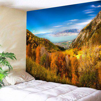 Waterproof Forest Mountains Pattern Wall Hanging Tapestry - COLORFUL COLORFUL