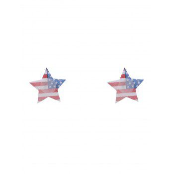 American Flag Print Star Nipple Sticker - COLORMIX ONE SIZE