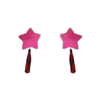 Star Sequins Tassel Nipple Covers - Rouge ONE SIZE