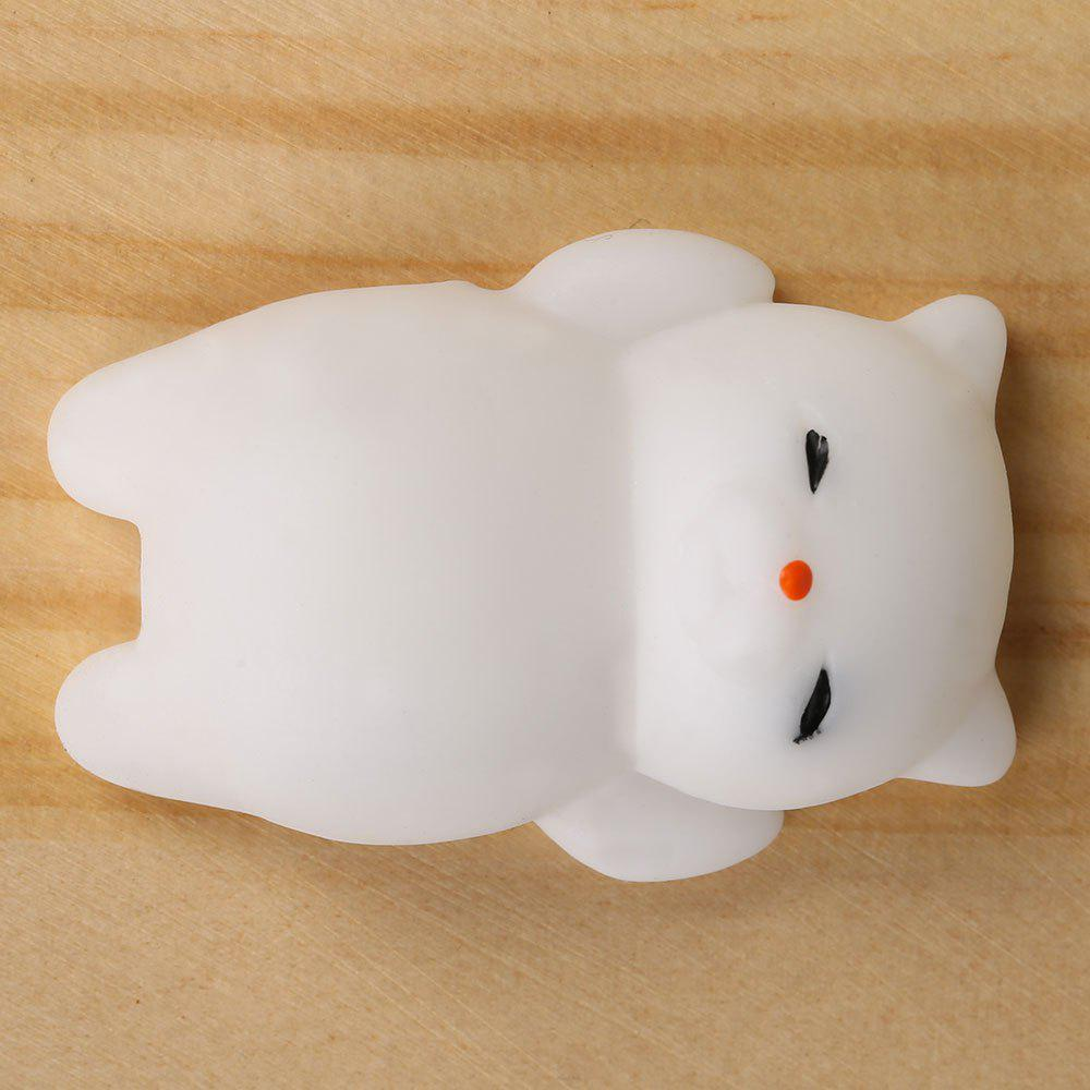3Pcs Cat Shaped Squishy Squeeze Anti Stress Toys - WHITE