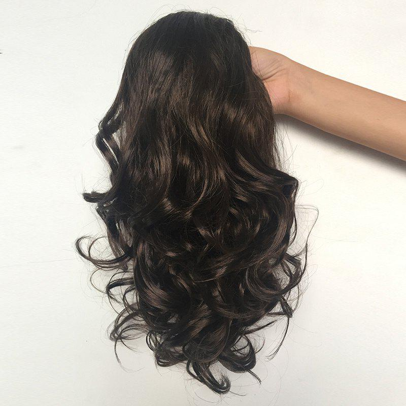 Long Curly Ponytail Synthetic Hair Piece - BROWN