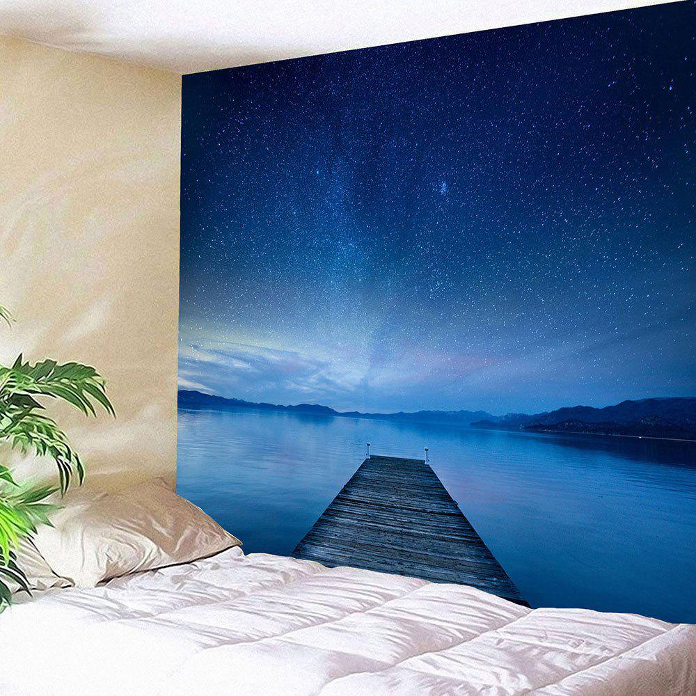 Waterproof Galaxy Bridge Printed Wall Hanging Tapestry - BLUE W79 INCH * L71 INCH