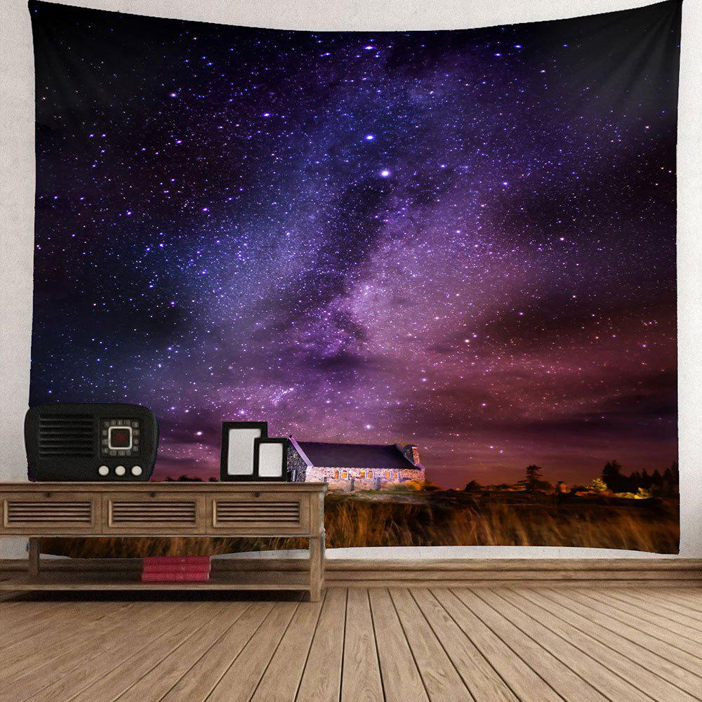 Waterproof Galaxy Stars Pattern Wall Hanging Tapestry - COLORMIX W59 INCH * L51 INCH
