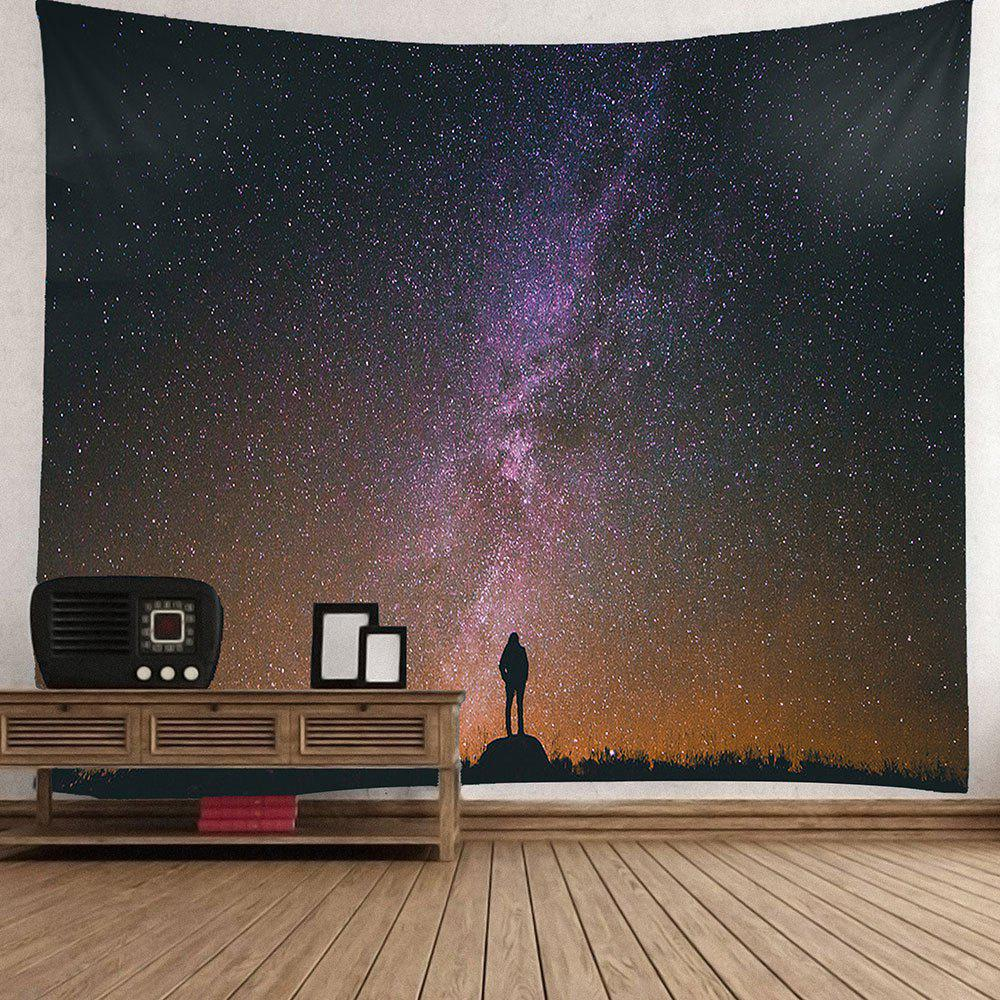 Waterproof Colored Galaxy Pattern Wall Hanging Tapestry - COLORMIX W79 INCH * L71 INCH
