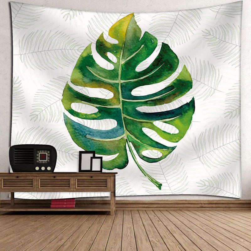 Palm Leaves Bedroom Wall Decor Tapestry - WHITE W71 INCH * L71 INCH