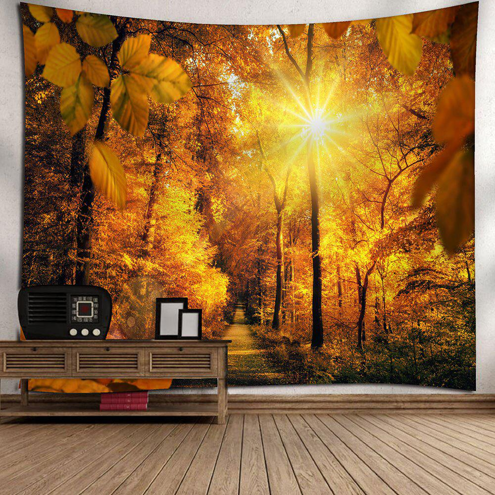 Waterproof Sunshine Sugarbush Pattern Wall Hanging Tapestry - YELLOW W79 INCH * L59 INCH