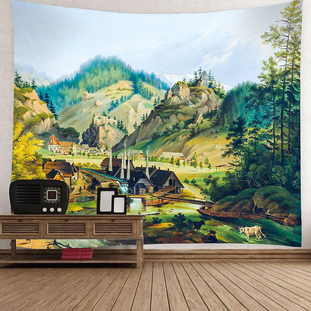Rustic Scenery Pattern Waterproof Wall Hanging Tapestry - COLORFUL W59 INCH * L59 INCH