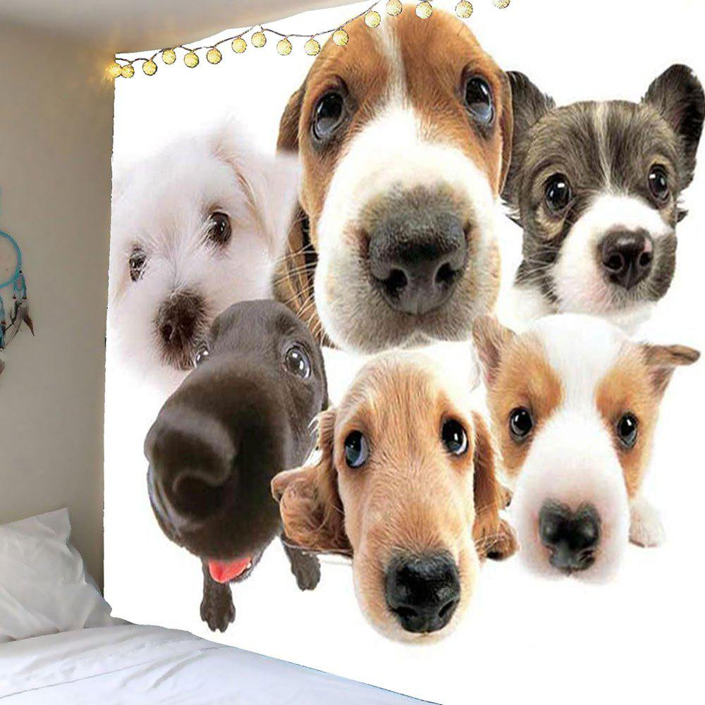 Multi Dogs Pattern Wall Art Tapestry - COLORMIX W59 INCH * L51 INCH