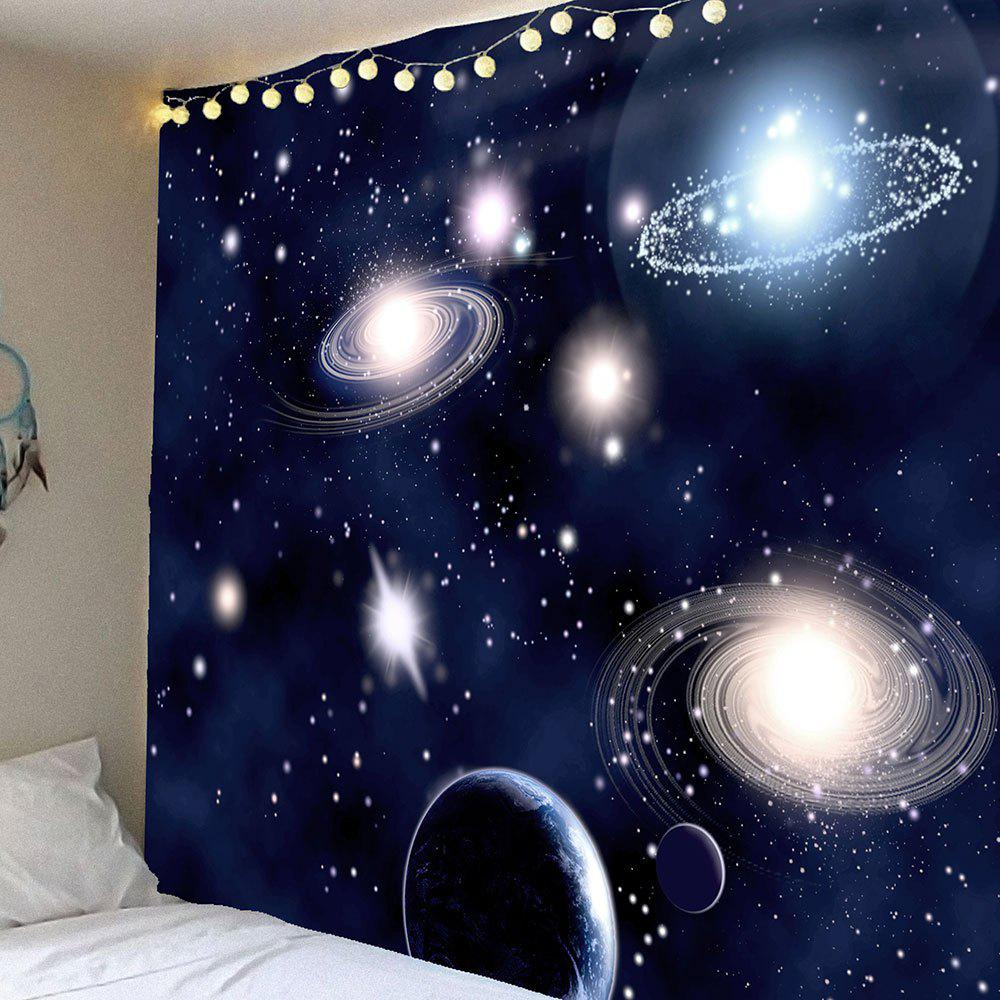 Waterproof Galaxy Planet Pattern Wall Hanging Tapestry - PURPLISH BLUE W79 INCH * L71 INCH