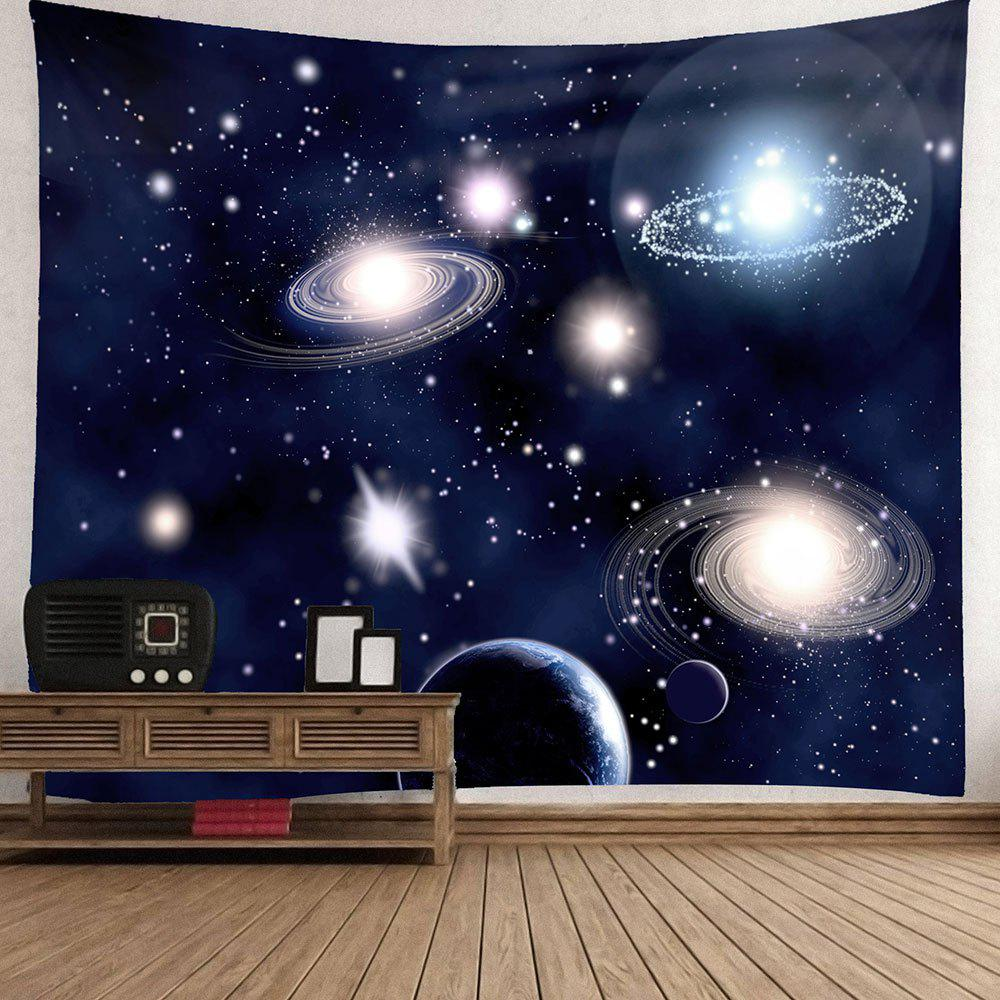 Waterproof Galaxy Planet Pattern Wall Hanging Tapestry - PURPLISH BLUE W71 INCH * L71 INCH