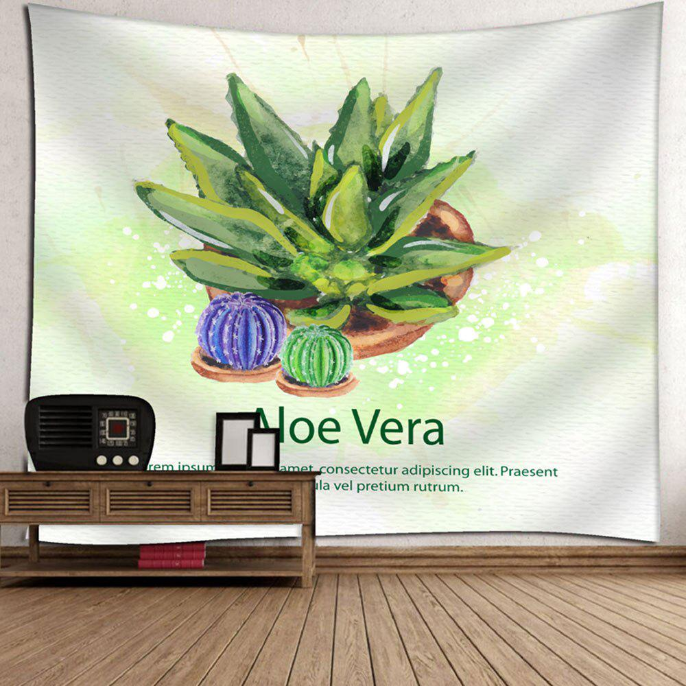 Cactus Printed Wall Decor Tapestry - WHITE W79 INCH * L59 INCH