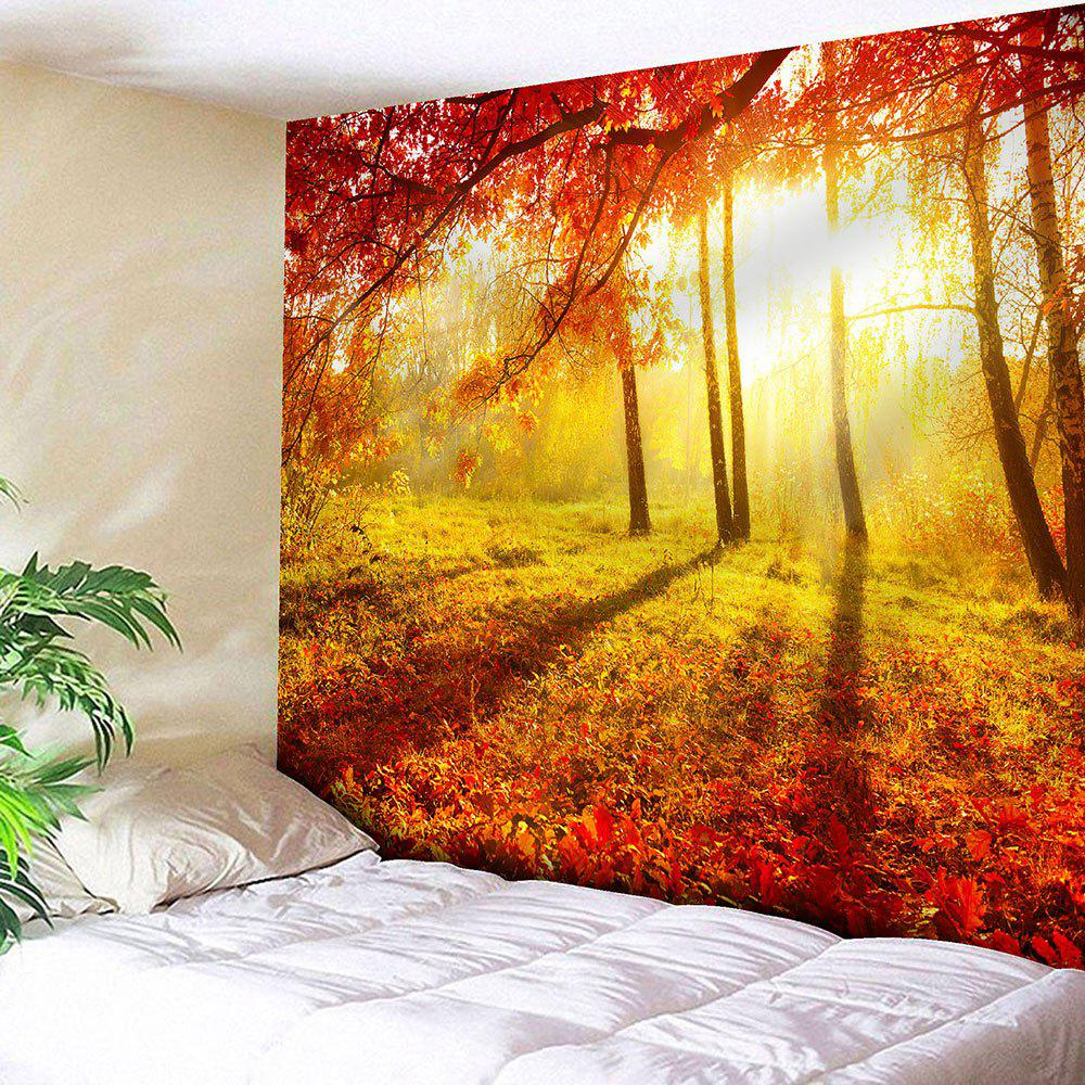 Hanging Maple Forest Sunlight Waterproof Wall Tapestry maple forest wall art tapestry hanging blanket