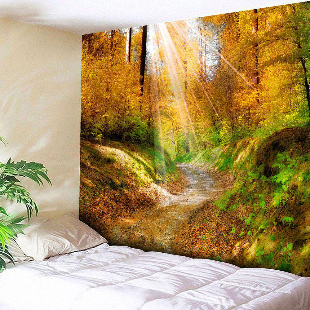 2018 Hanging Maple Grove Pathway Wall Art Tapestry YELLOW W INCH L ...