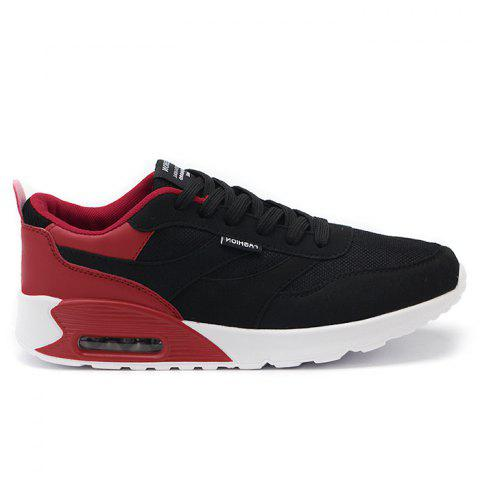 Casual Mesh Breathable Jogging Athletic Sneakers - RED 42