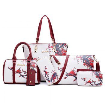 Flower Print 6 Pieces Shoulder Bag Set