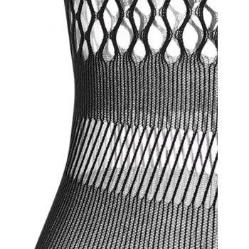 Fishnet See Through Bodycon Dress - BLACK ONE SIZE