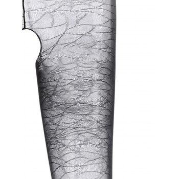 See Through Caged Backless Bodystockings - BLACK ONE SIZE