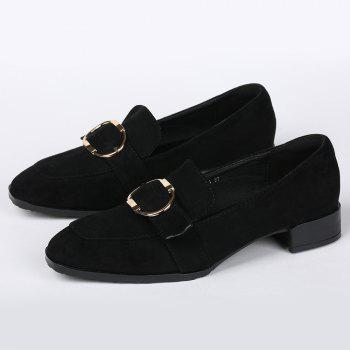 Slip On Grommet Square Toe Chaussures plates - Noir 40