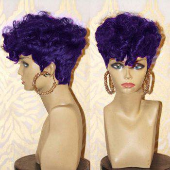 Short Side Bang Layered Shaggy Afro Curly Synthetic Wig - CONCORD CONCORD
