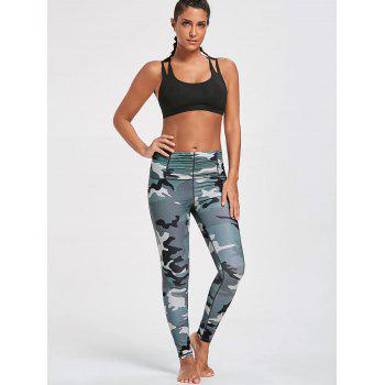Ruched Waist Camouflage Printed Leggings - CAMOUFLAGE CAMOUFLAGE