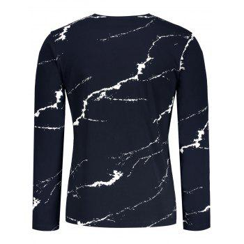 Very Lucky Printed Splashed Ink T-shirt - PURPLISH BLUE PURPLISH BLUE