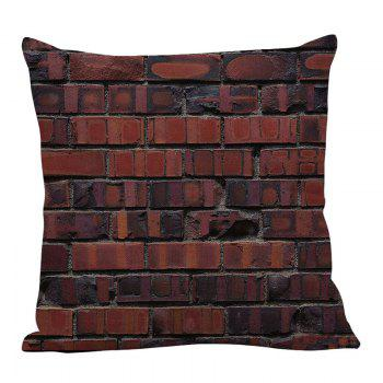 Vintage Bricks Pattern Pillow Case - W18 INCH * L18 INCH W18 INCH * L18 INCH
