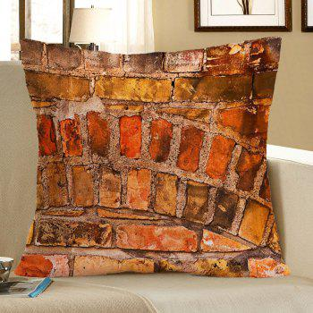 Brick Wall Pattern Home Decor Pillow Case - BROWN W18 INCH * L18 INCH