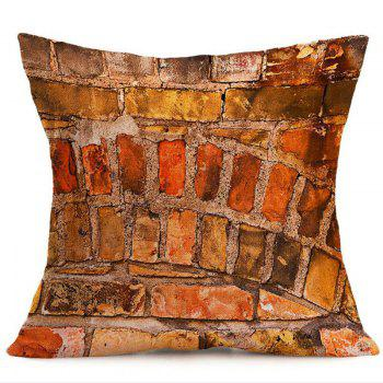Brick Wall Pattern Home Decor Pillow Case - W18 INCH * L18 INCH W18 INCH * L18 INCH