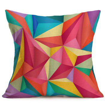 Linen Geometric Printed Throw Pillow Case - W18 INCH * L18 INCH W18 INCH * L18 INCH