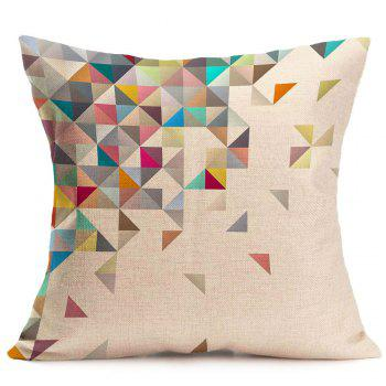 Geometric Printed Home Decor Linen Pillow Case - COLORFUL COLORFUL