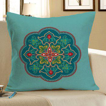 Linen Bohemia Floral Pattern Throw Pillow Case - COLORFUL W18 INCH * L18 INCH