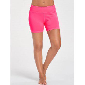 Stretch Tight Shorts with Pocket - BRIGHT PINK S