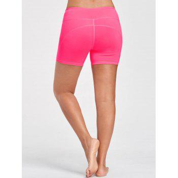 Stretch Tight Shorts with Pocket - M M
