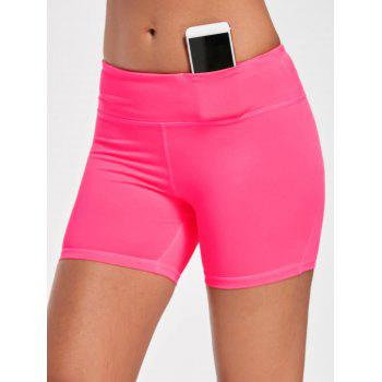 Stretch Tight Shorts with Pocket - XL XL