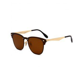 Metallic Panel Mirror Wayfarer Sunglasses - CHOCOLATE CHOCOLATE