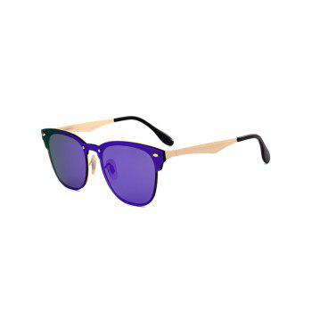 Metallic Panel Mirror Wayfarer Sunglasses - LARKSPUR LARKSPUR